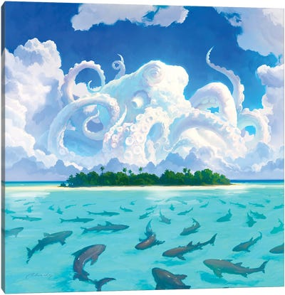 Dangerous Water Canvas Art Print