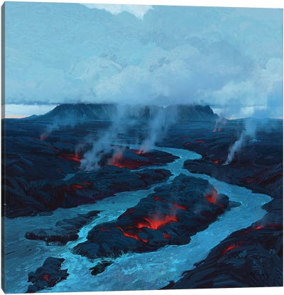 Desire To Be A Part Of Iceland Canvas Art Print