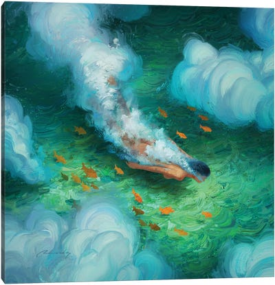 Dive With Me Canvas Art Print