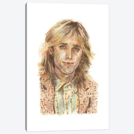Tom Petty Canvas Print #ACD14} by Amanda Casady Canvas Art Print