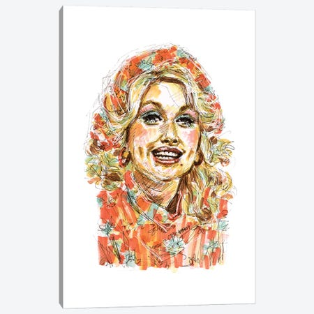 Dolly Parton Canvas Print #ACD2} by Amanda Casady Canvas Art Print