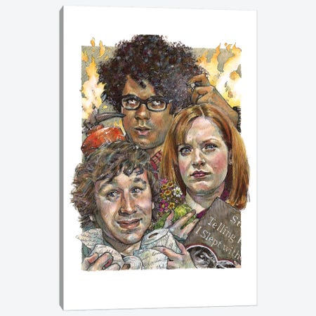 IT Crowd Canvas Print #ACD6} by Amanda Casady Canvas Artwork