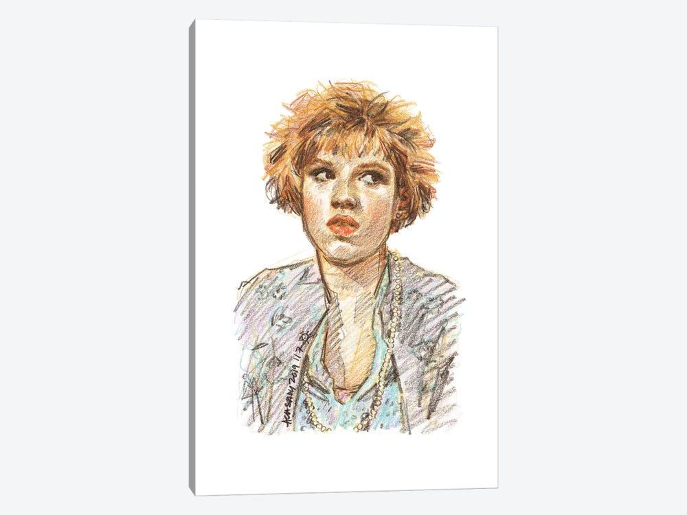 Pretty In Pink - Molly Ringwald by Amanda Casady 1-piece Canvas Art