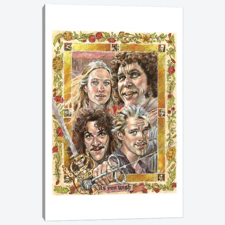 Princess Bride Canvas Print #ACD8} by Amanda Casady Canvas Print