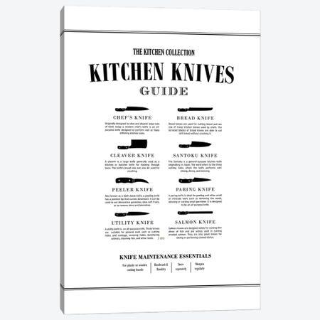 Kitchen Knives Chart Canvas Print #ACE100} by Alchera Design Posters Canvas Print