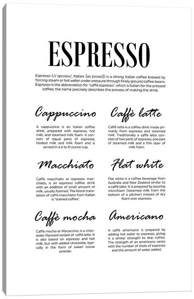 Espresso Canvas Art Print