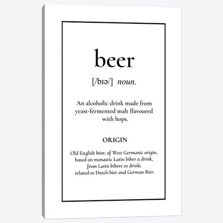 Beer Definition Canvas Print #ACE105} by Alchera Design Posters Canvas Artwork