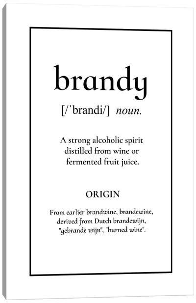 Brandy Definition Canvas Art Print