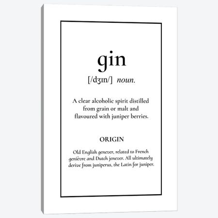 Gin Definition Canvas Print #ACE107} by Alchera Design Posters Canvas Artwork
