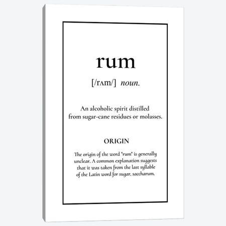 Rum Definition Canvas Print #ACE108} by Alchera Design Posters Canvas Print