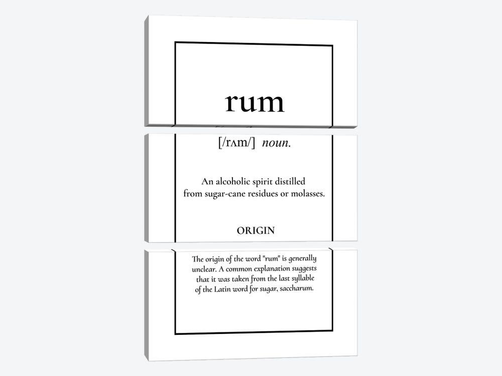 Rum Definition by Alchera Design Posters 3-piece Canvas Wall Art