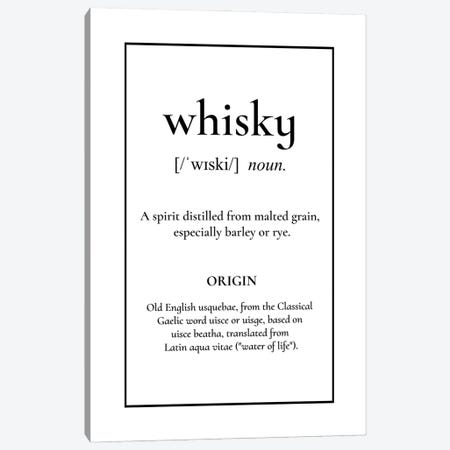 Whiskey Definition Canvas Print #ACE111} by Alchera Design Posters Canvas Art