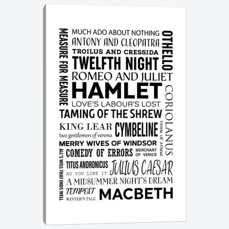 Shakespeare - All Plays Canvas Print #ACE120} by Alchera Design Posters Canvas Print