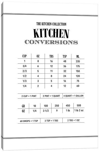 Kitchen Conversations - White Canvas Art Print