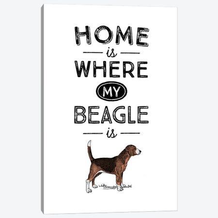Beagle Canvas Print #ACE24} by Alchera Design Posters Canvas Print