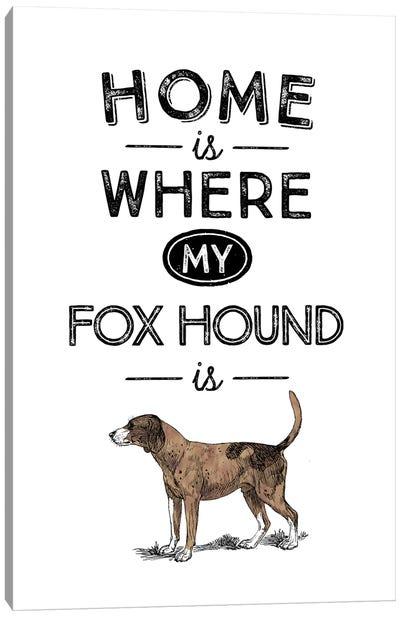 Fox Hound Canvas Art Print