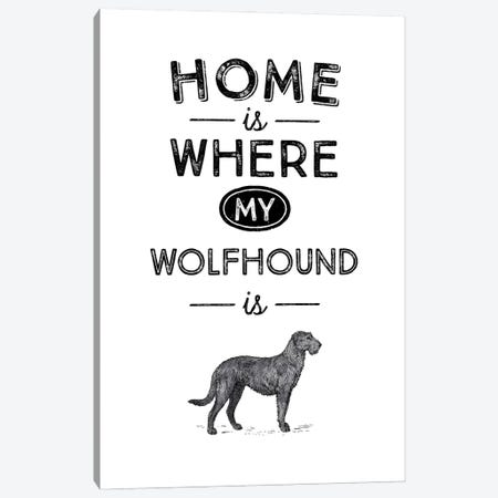 Irish Wolfhound Canvas Print #ACE38} by Alchera Design Posters Canvas Print