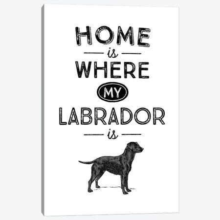 Black Labrador Canvas Print #ACE39} by Alchera Design Posters Art Print