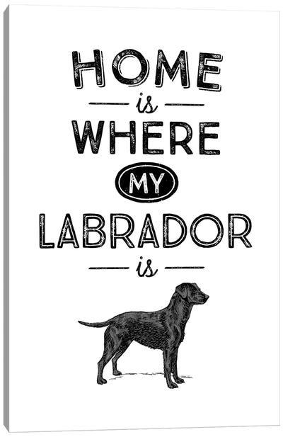 Black Labrador Canvas Art Print