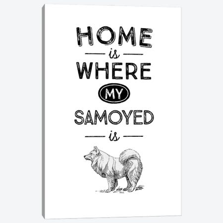 Samoyed Canvas Print #ACE45} by Alchera Design Posters Canvas Art Print