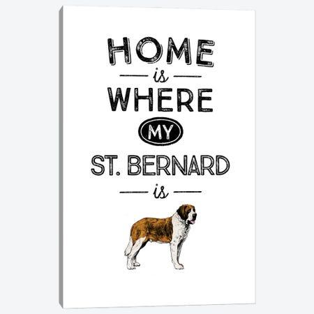 Saint Bernard Canvas Print #ACE48} by Alchera Design Posters Canvas Wall Art