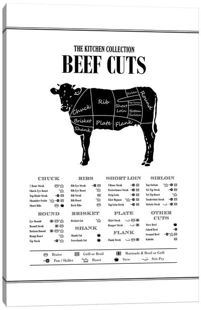 Beef Cuts Canvas Art Print