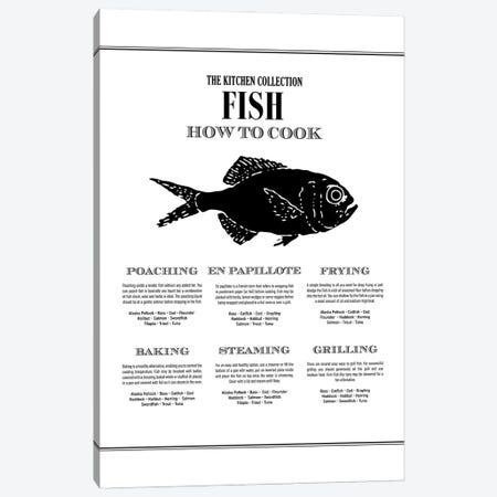 Fish | How To Cook Canvas Print #ACE66} by Alchera Design Posters Canvas Print
