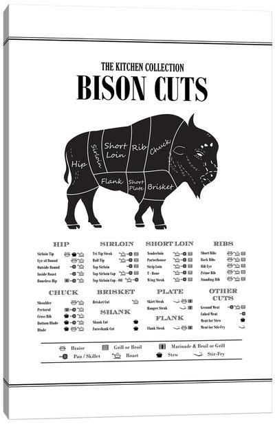 Bison Cuts Canvas Art Print