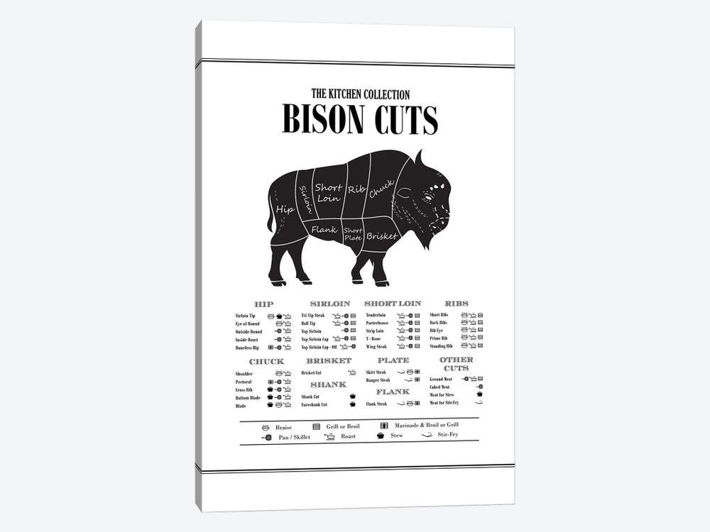 Bison Cuts by Alchera Design Posters 1-piece Art Print