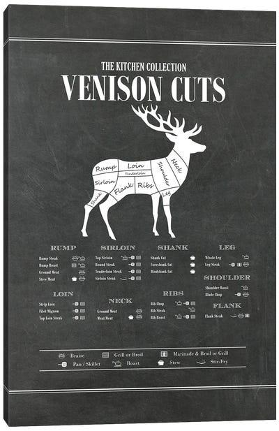 Venison Cuts - Chalk Canvas Art Print