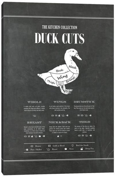Duck Cuts - Chalk Canvas Art Print