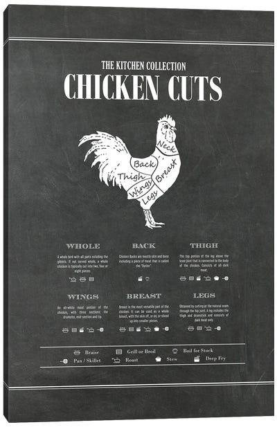 Chicken Cuts - Chalk Canvas Art Print