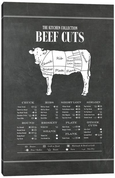 Beef Cuts - Chalk Canvas Art Print