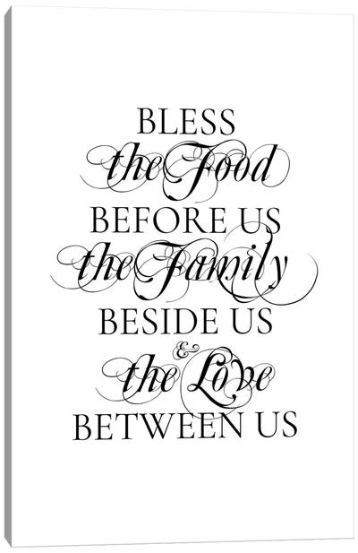 Bless the Food Canvas Art Print