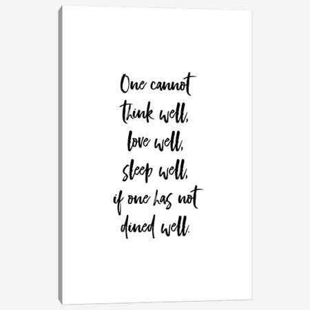One Cannot Live Well - Virginia Woolf Quote Canvas Print #ACE89} by Alchera Design Posters Canvas Art