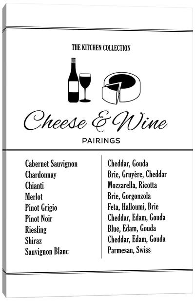 Cheese And Wine Pairings Canvas Art Print