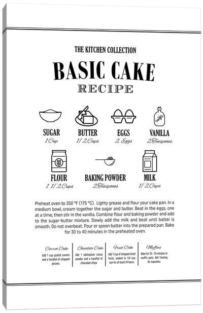 Basic Cake Recipe Canvas Art Print