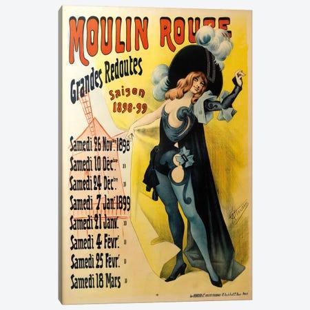 Moulin Rouge Grand Redoutes Advertisement, Saison 1898-1899 Canvas Print #ACH2} by Alfred Choubrac Canvas Art Print