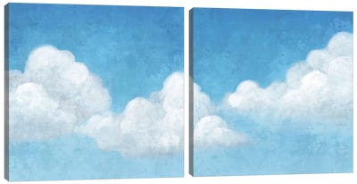 Cloudy Diptych Canvas Art Print