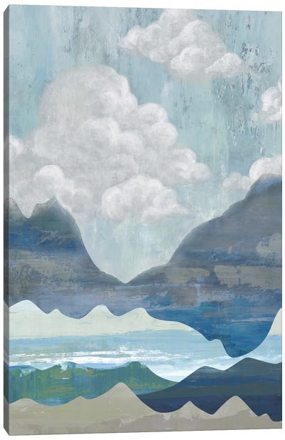 Cloudy Mountains I Canvas Art Print
