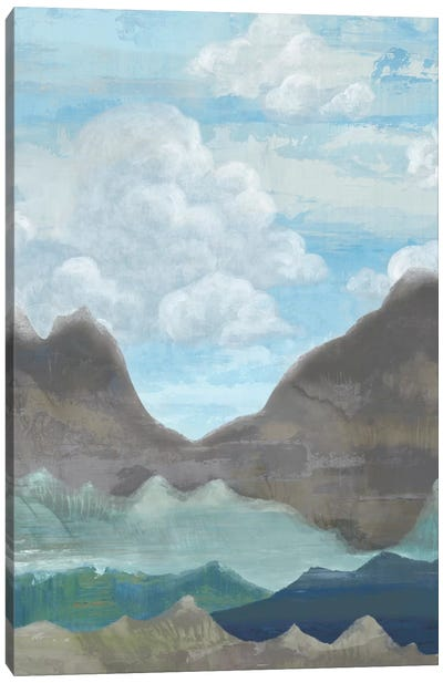 Cloudy Mountains II Canvas Art Print