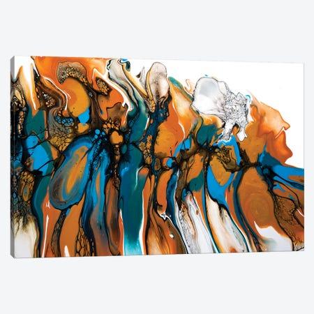 White Orchid Canvas Print #ACK103} by Brigitte Ackland Canvas Art
