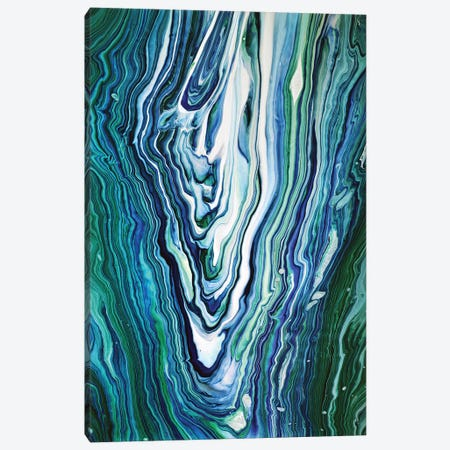 Blue And Green Agate Canvas Print #ACK119} by Brigitte Ackland Art Print