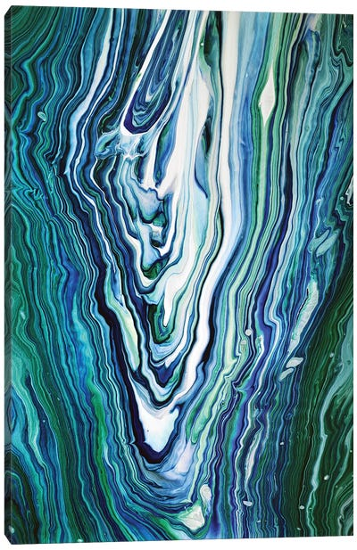 Blue And Green Agate Canvas Art Print