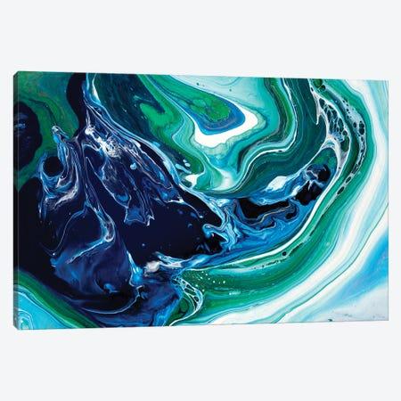 Blue Oasis Canvas Print #ACK146} by Brigitte Ackland Art Print