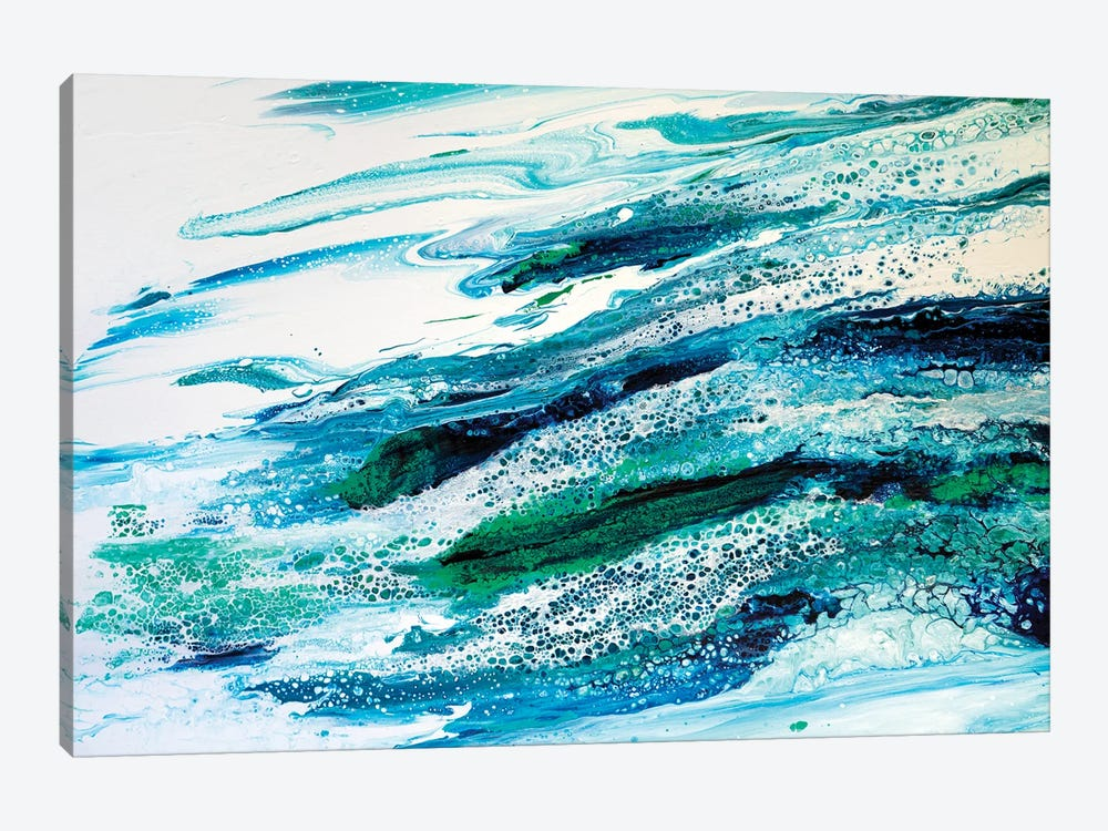 Oceans Lace by Brigitte Ackland 1-piece Canvas Artwork