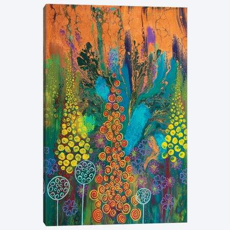 Carnival Of Colour Canvas Print #ACK157} by Brigitte Ackland Canvas Artwork