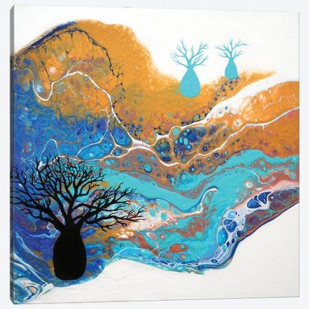 Blue Boabs II Canvas Print #ACK182} by Brigitte Ackland Canvas Wall Art