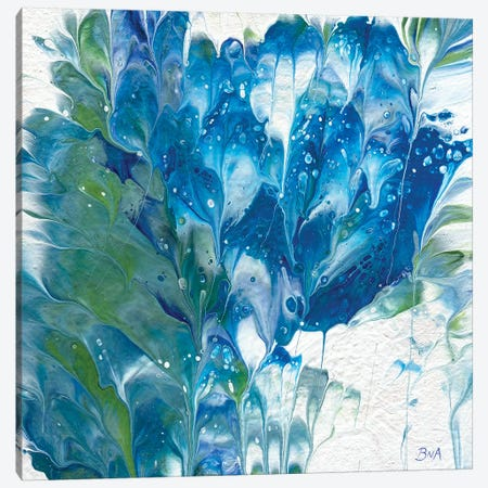 Blue Floral II Canvas Print #ACK23} by Brigitte Ackland Canvas Wall Art