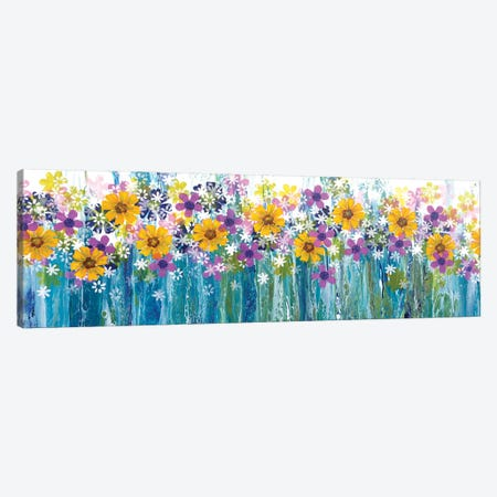 Field Of Flowers Canvas Print #ACK35} by Brigitte Ackland Canvas Art
